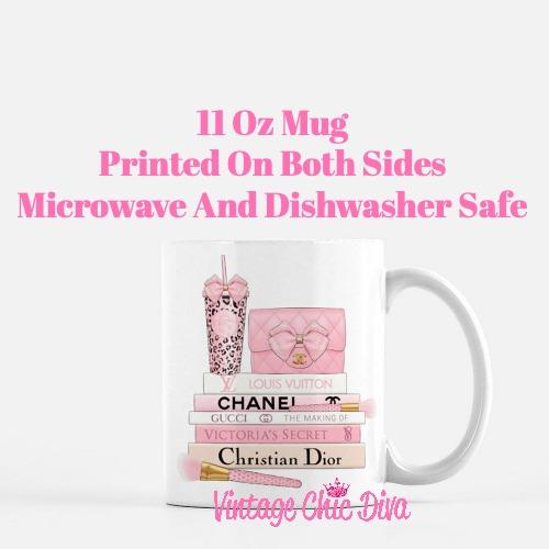 Pink Love Chanel Starbuck Set48 Coffee Mug-