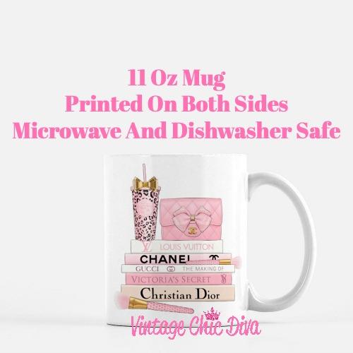 Pink Love Chanel Starbuck Set49 Coffee Mug-