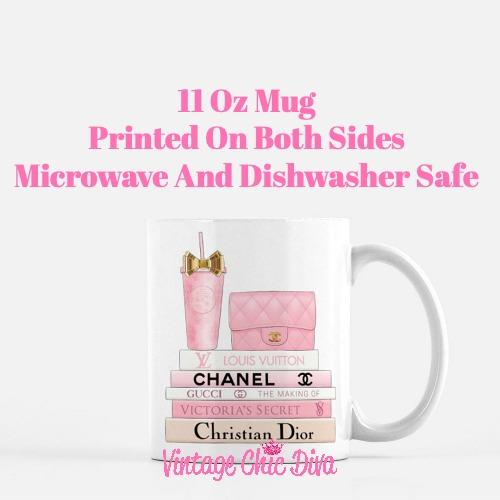 Pink Love Chanel Starbuck Set4 Coffee Mug-