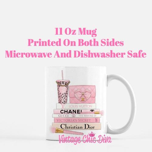 Pink Love Chanel Starbuck Set50 Coffee Mug-