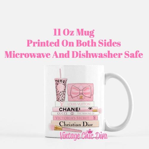 Pink Love Chanel Starbuck Set51 Coffee Mug-
