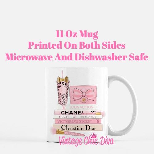 Pink Love Chanel Starbuck Set54 Coffee Mug-