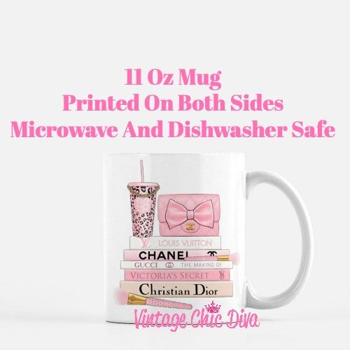 Pink Love Chanel Starbuck Set55 Coffee Mug-