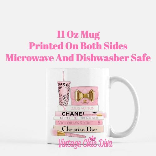 Pink Love Chanel Starbuck Set56 Coffee Mug-