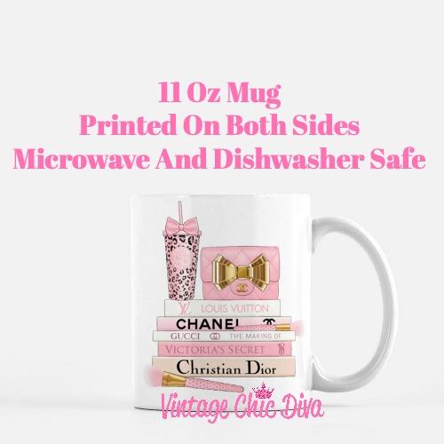 Pink Love Chanel Starbuck Set57 Coffee Mug-