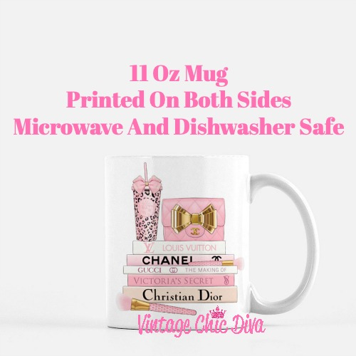 Pink Love Chanel Starbuck Set58 Coffee Mug-