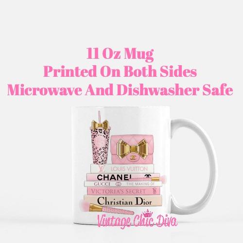 Pink Love Chanel Starbuck Set59 Coffee Mug-