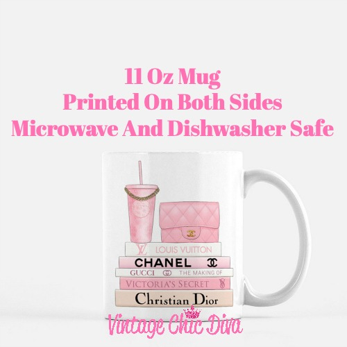 Pink Love Chanel Starbuck Set5 Coffee Mug-