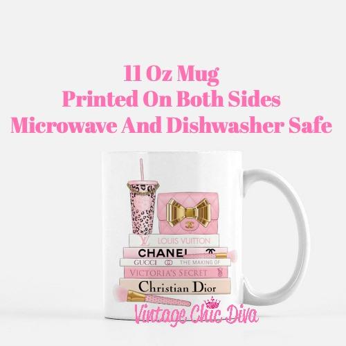 Pink Love Chanel Starbuck Set60 Coffee Mug-