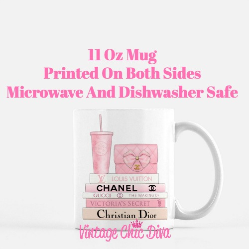 Pink Love Chanel Starbuck Set6 Coffee Mug-