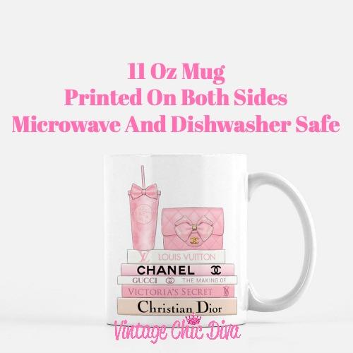 Pink Love Chanel Starbuck Set7 Coffee Mug-