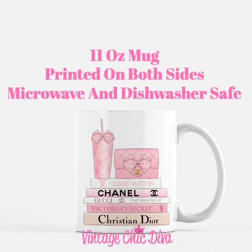 Pink Love Chanel Starbuck Set8 Coffee Mug-