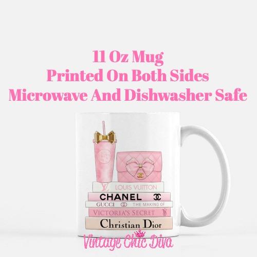 Pink Love Chanel Starbuck Set9 Coffee Mug-
