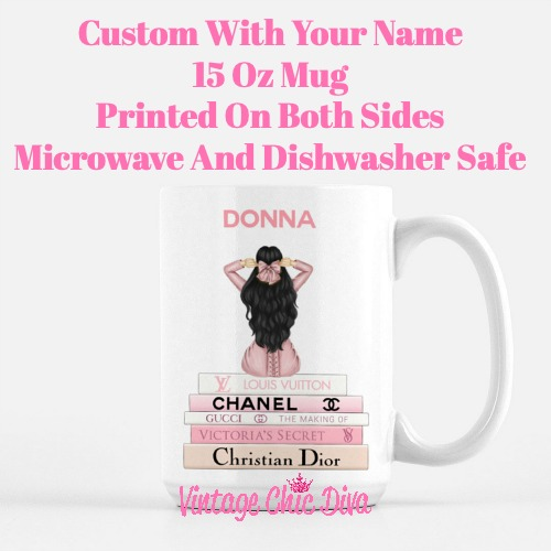 Pink Love Fashion Girl11 Coffee Mug-