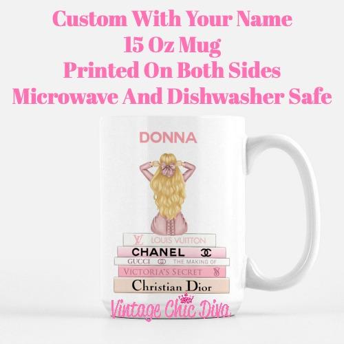 Pink Love Fashion Girl12 Coffee Mug-