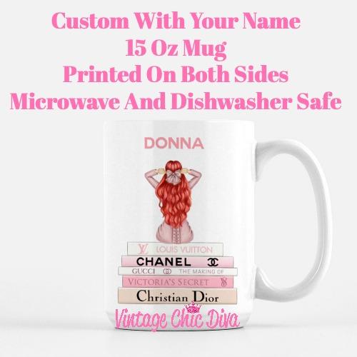 Pink Love Fashion Girl13 Coffee Mug-