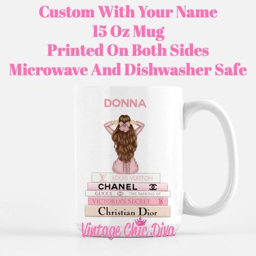 Pink Love Fashion Girl14 Coffee Mug-