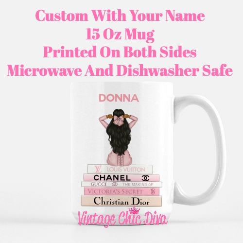 Pink Love Fashion Girl15 Coffee Mug-