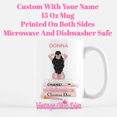 Pink Love Fashion Girl16 Coffee Mug-