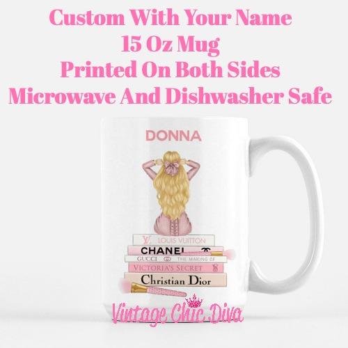 Pink Love Fashion Girl17 Coffee Mug-