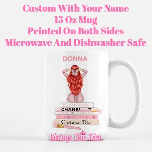 Pink Love Fashion Girl18 Coffee Mug-