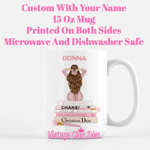 Pink Love Fashion Girl19 Coffee Mug-