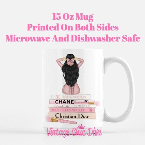Pink Love Fashion Girl1 Coffee Mug-