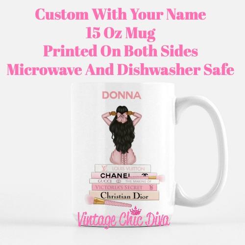 Pink Love Fashion Girl20 Coffee Mug-