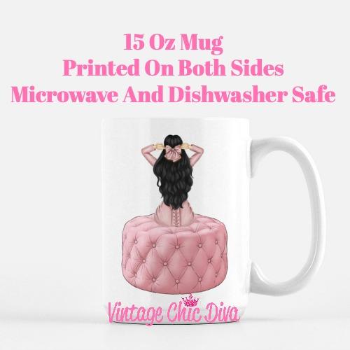 Pink Love Fashion Girl21 Coffee Mug-