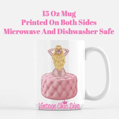 Pink Love Fashion Girl22 Coffee Mug-
