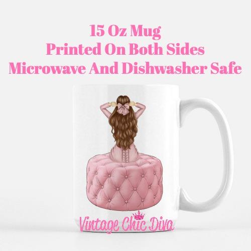 Pink Love Fashion Girl24 Coffee Mug-