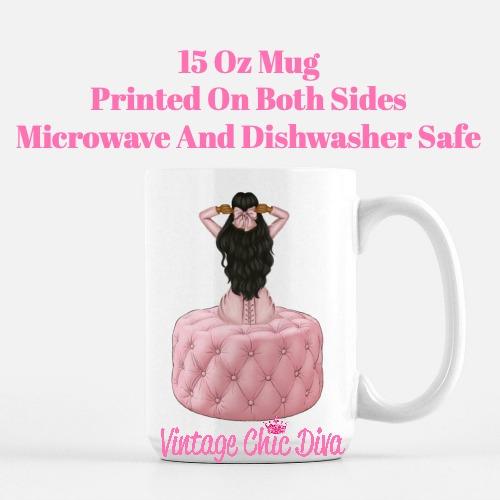 Pink Love Fashion Girl25 Coffee Mug-