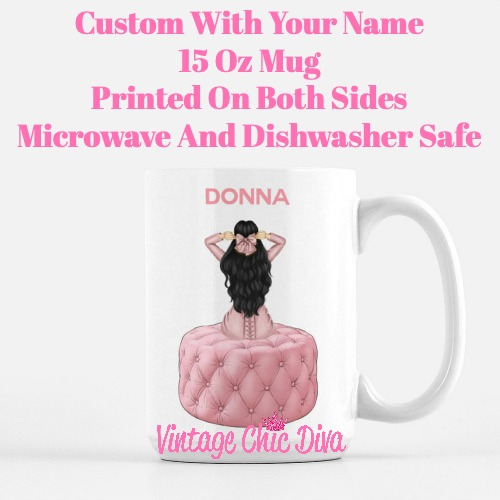 Pink Love Fashion Girl26 Coffee Mug-