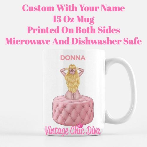Pink Love Fashion Girl27 Coffee Mug-