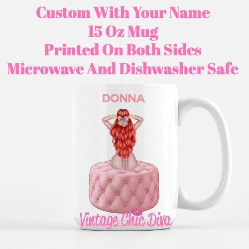 Pink Love Fashion Girl28 Coffee Mug-