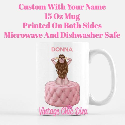 Pink Love Fashion Girl29 Coffee Mug-