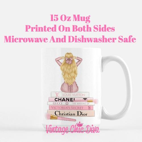 Pink Love Fashion Girl2 Coffee Mug-