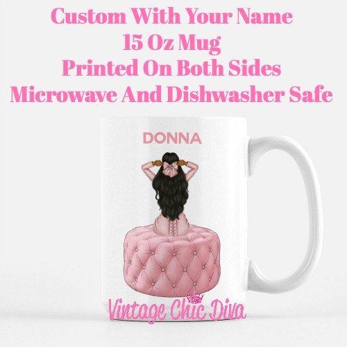 Pink Love Fashion Girl30 Coffee Mug-