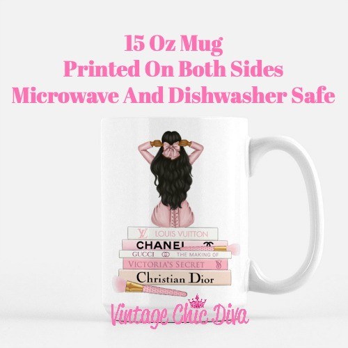 Pink Love Fashion Girl5 Coffee Mug-