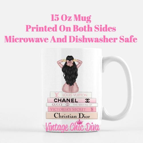 Pink Love Fashion Girl6 Coffee Mug-