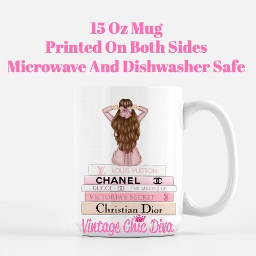 Pink Love Fashion Girl9 Coffee Mug-