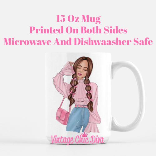 Pink Love Girl2 Coffee Mug-