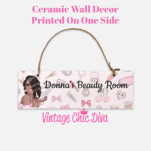 Pink Makeup Girl Beauty Room Sign10-