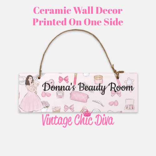 Pink Makeup Girl Beauty Room Sign2-