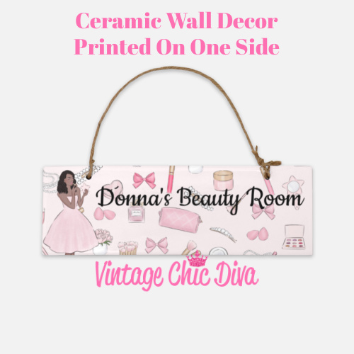 Pink Makeup Girl Beauty Room Sign4-