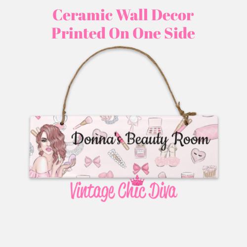 Pink Makeup Girl Beauty Room Sign5-