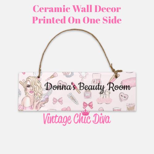 Pink Makeup Girl Beauty Room Sign6-