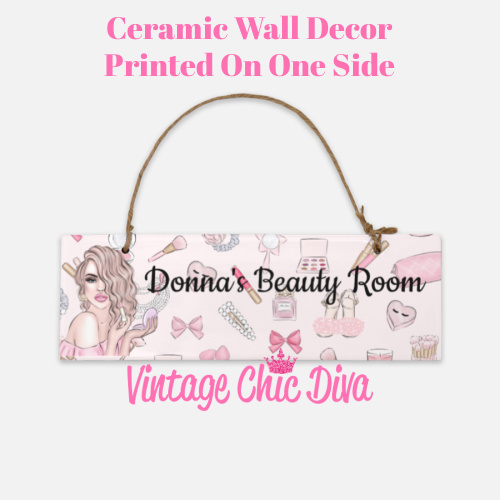 Pink Makeup Girl Beauty Room Sign7-
