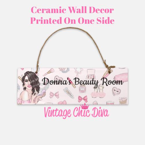 Pink Makeup Girl Beauty Room Sign8-