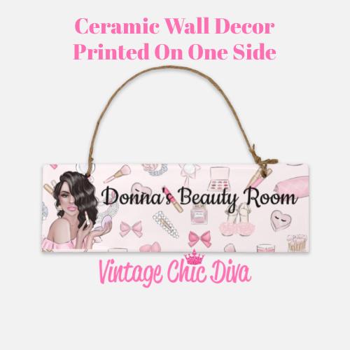 Pink Makeup Girl Beauty Room Sign9-
